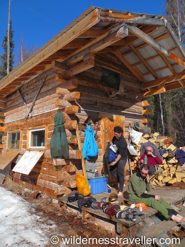 Log cabin in Alaska