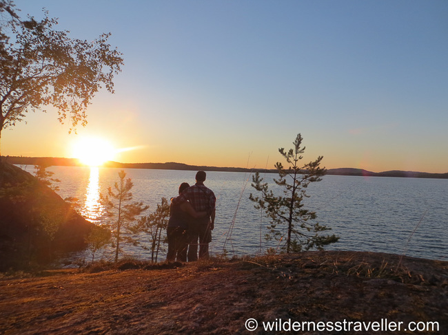 Enjoying the beautiful sunset on Makutsaari