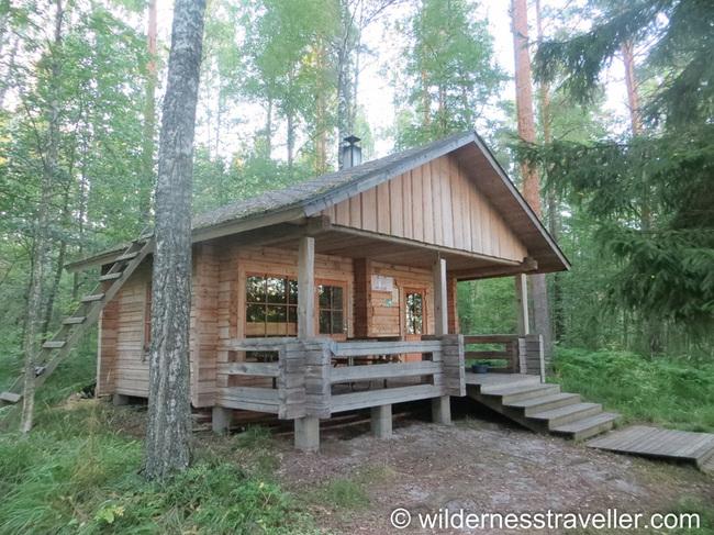 A sauna on Korvensaari island