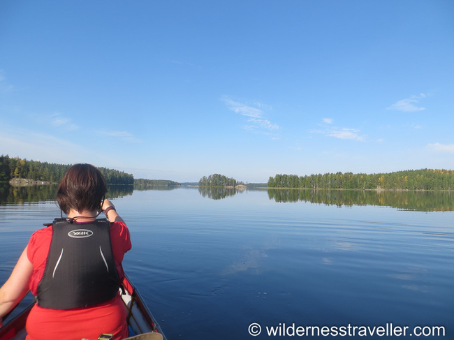 Paddling through Lake Saimaa