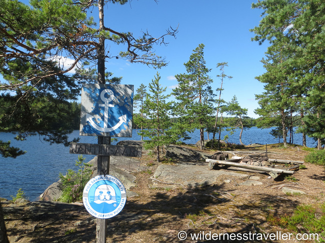 Designated camp site in Finland