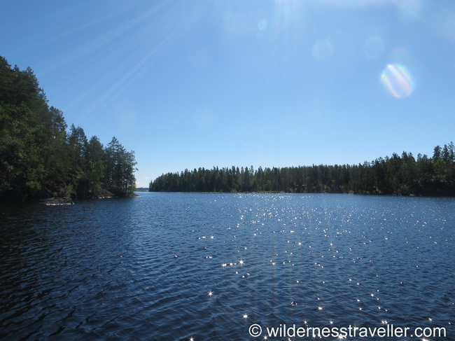 A sunny day on Lake Saimaa