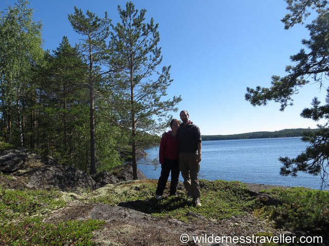 Stood on an island in Lake Saimaa