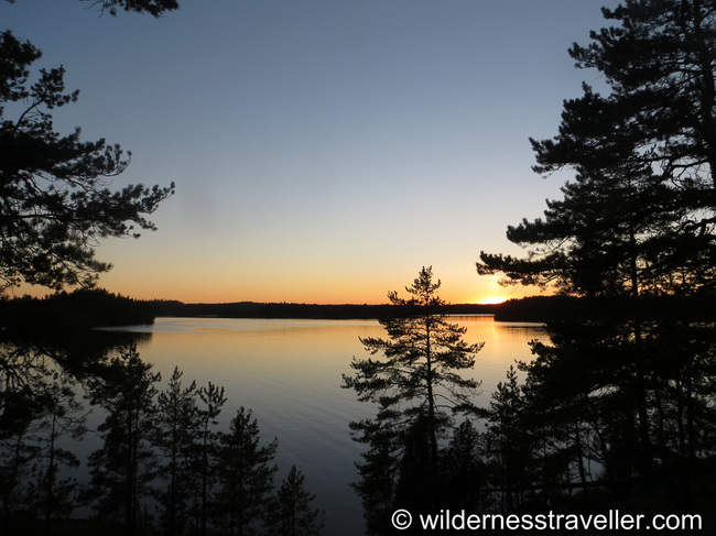 Beautiful sunset over Lake Saimaa
