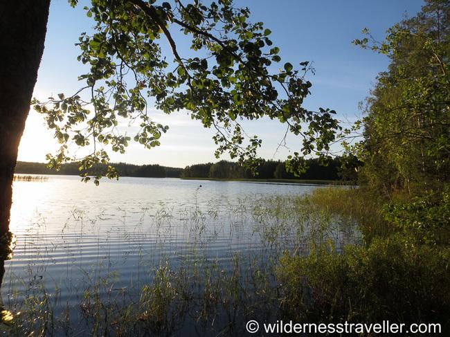 A sunny island in Lake Saimaa