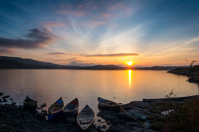 Incredible sunset over a Scottish loch