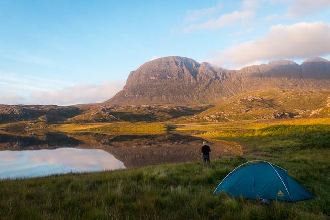 Campsite overlooking Suilven