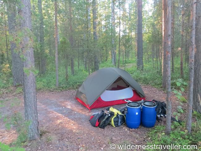Tent Doors Open