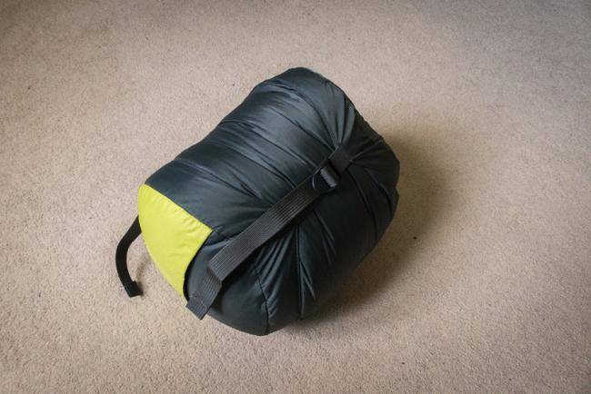 Compressed sleeping bag