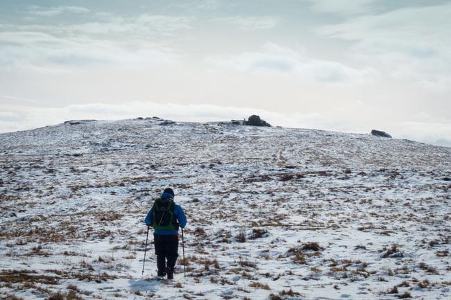 Walking towards High Willhays