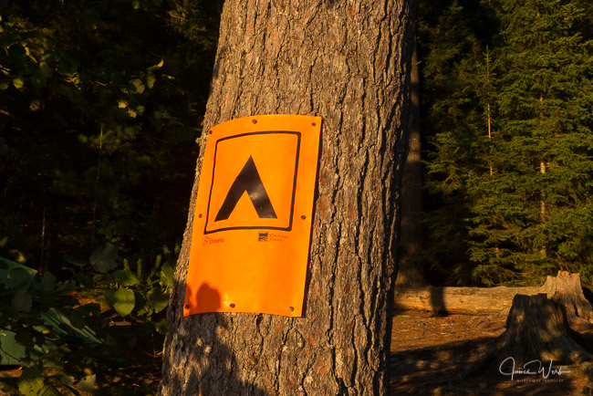 Campsite sign in Algonquin Park